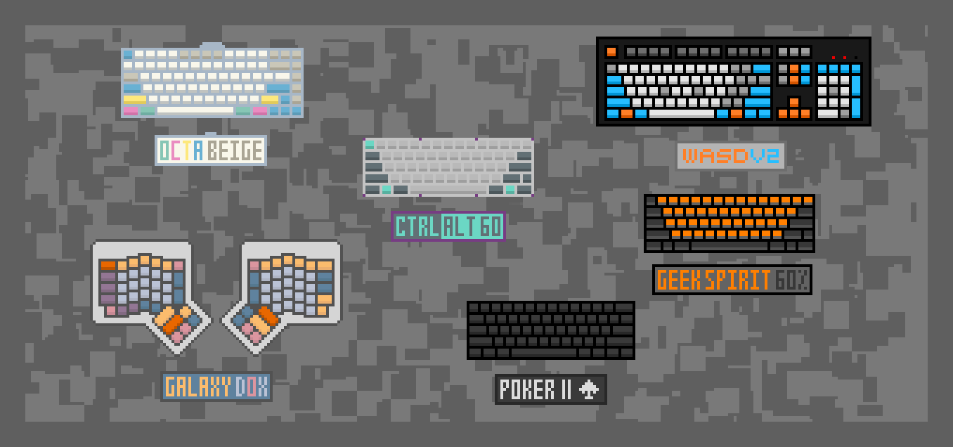 Figure 4: Pixel Art of My Keyboards I, 2015