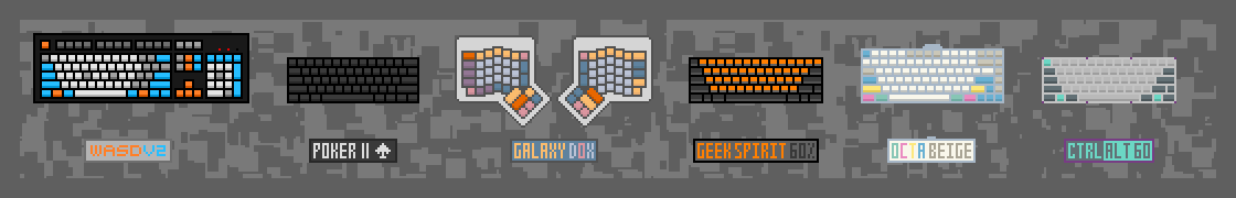 Figure 5: Pixel Art of My Keyboards II, 2015